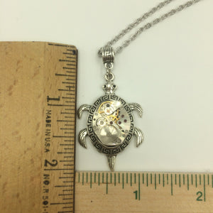 Mechanical Turtle Steampunk Necklace