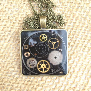 Galaxy Steampunk Necklace