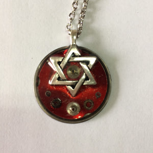 Steampunk David Star Necklace