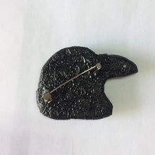 Raven Head Brooch