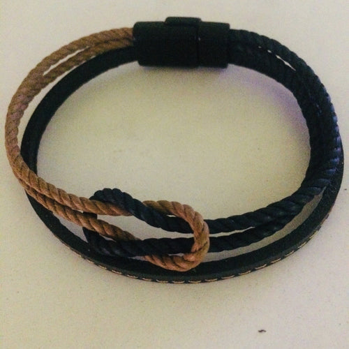 Angler's Knot Leather Bracelet