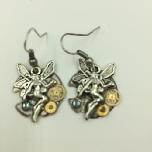 Watch Fairy Steampunk Earrings