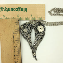 Steampunk Angel Wings Necklace