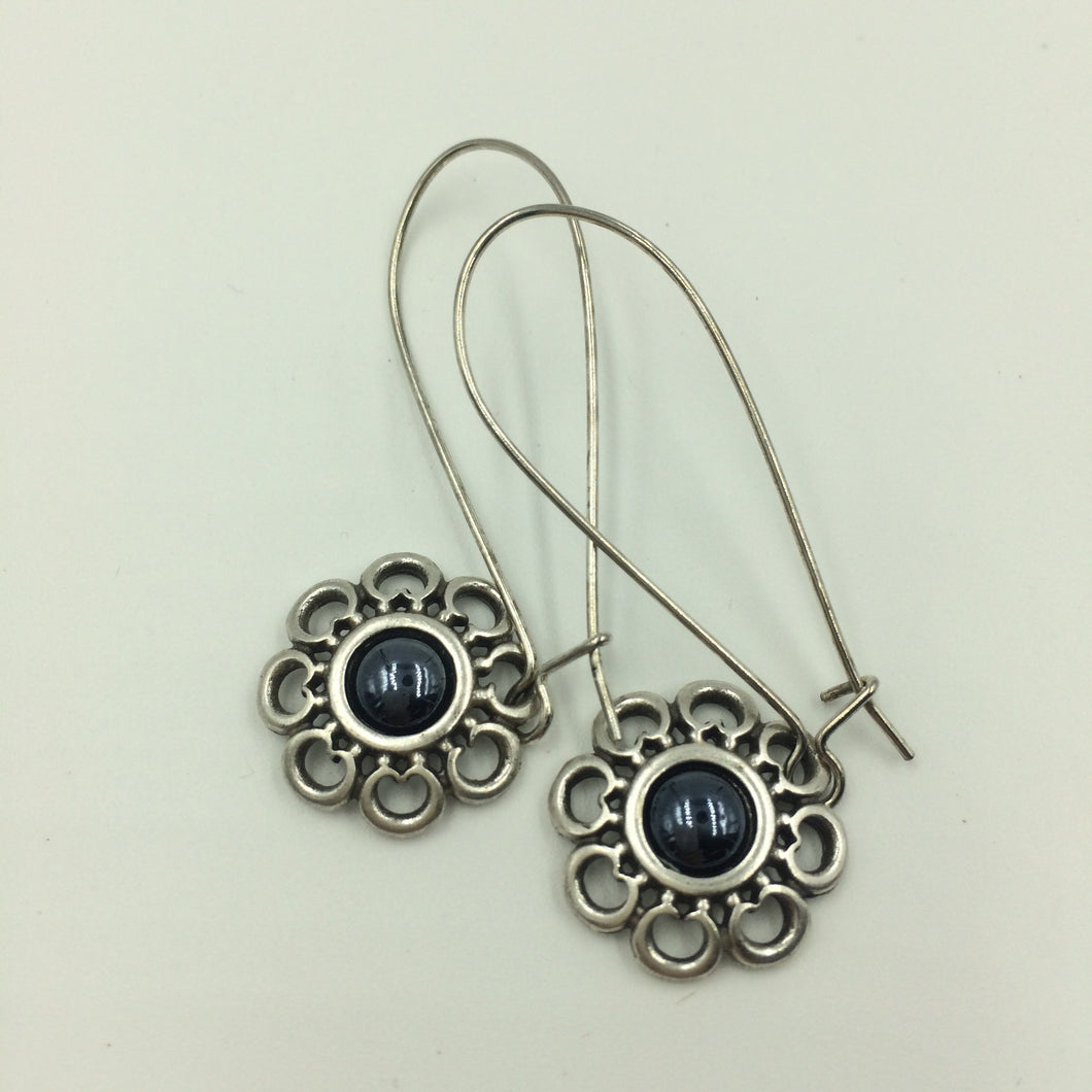 Dacia Hematite Earrings