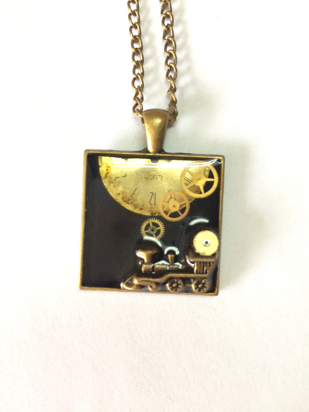 Steampunk Train Necklace