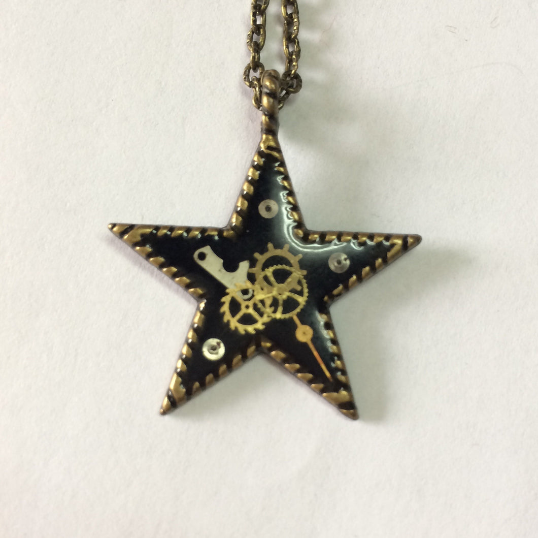Star Steampunk Necklace