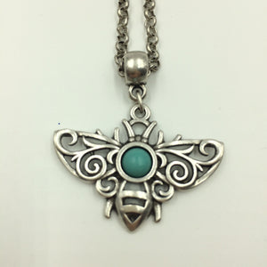 Bee Necklace Turquoise
