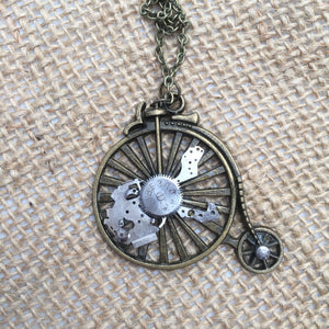 Steampunk Bike Necklace