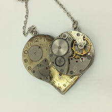 3-Part Mechanical Heart Steampunk Necklace