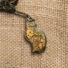 Steampunk Clear Cat Necklace