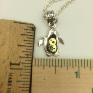 Small Penguin Steampunk Necklace