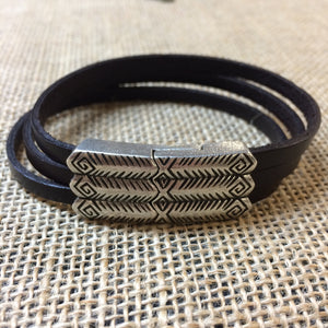 Lunar Calendar Leather Bracelet