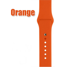 Silicone Apple Watch Band: Colors -- Fog, Stone, Orange, Walnut, Turquoise, Yellow, Mint, Apricot, Lilac, Royal Blue