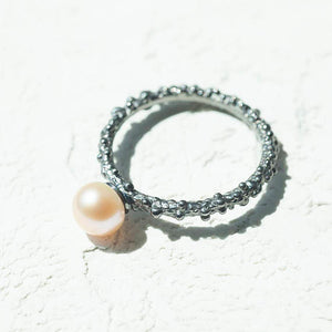 Sterling Silver Stacking Perl Ring