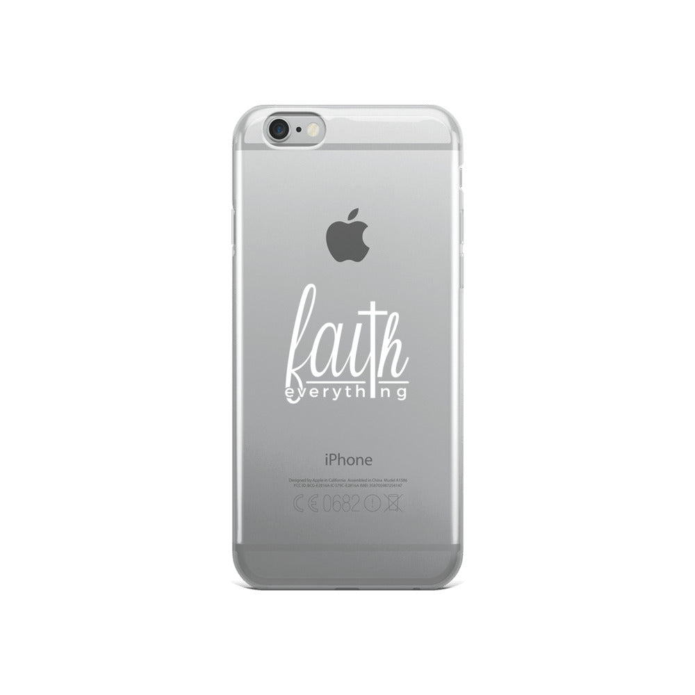 Faith Over Everything - iPhone Case (White letters)