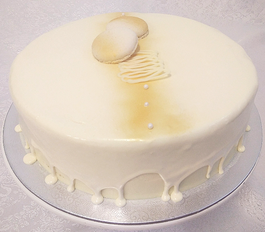 Glazed Alaska White Mud Cake