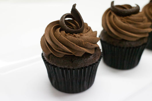 Box of 6 Chocolate Fudge Cupcakes