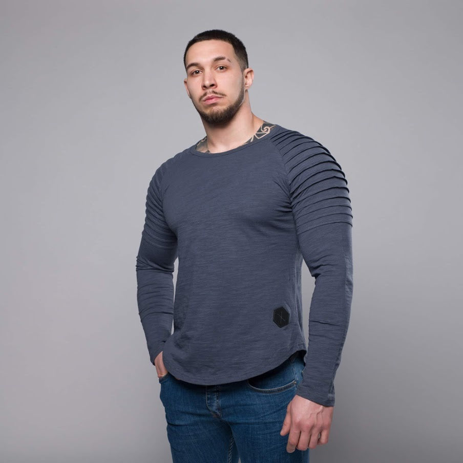 Muscle Fit Long-sleeved Shirt