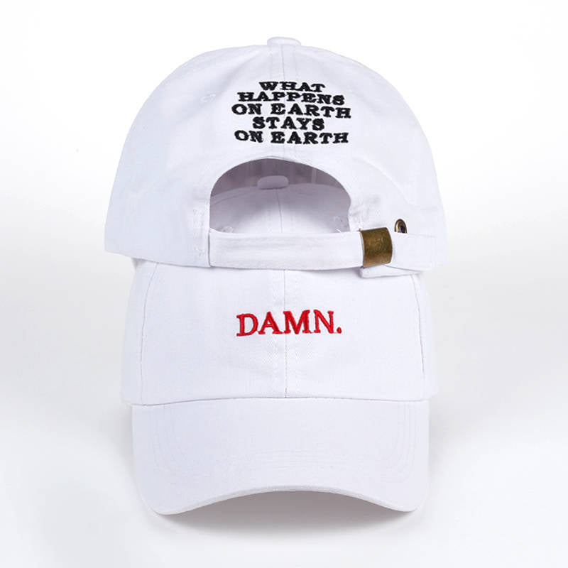Text Embroidery Baseball Cap