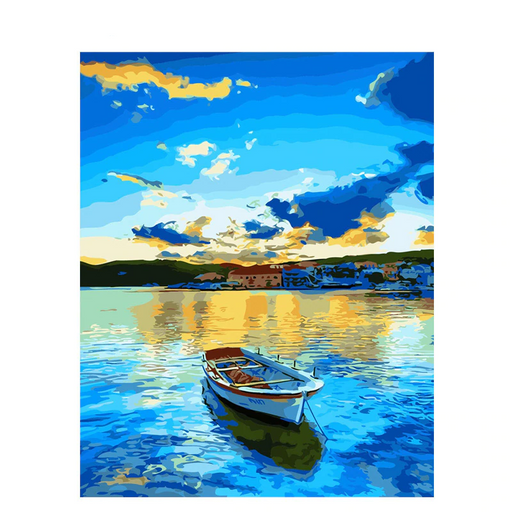 DIY Boat In The Lake Painting