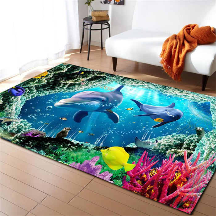 Cute Dolphins Carpet