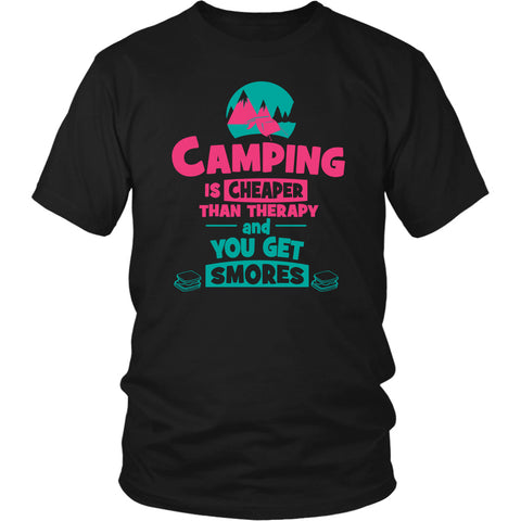 Image of Camping Is Cheaper Than Therapy And You Get Smores