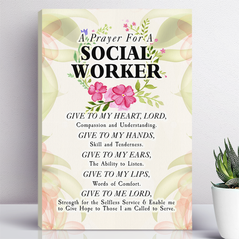 A Prayer For A Social Worker Floral Wall Art