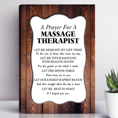 A Prayer For A Massage Therapist Wall Art