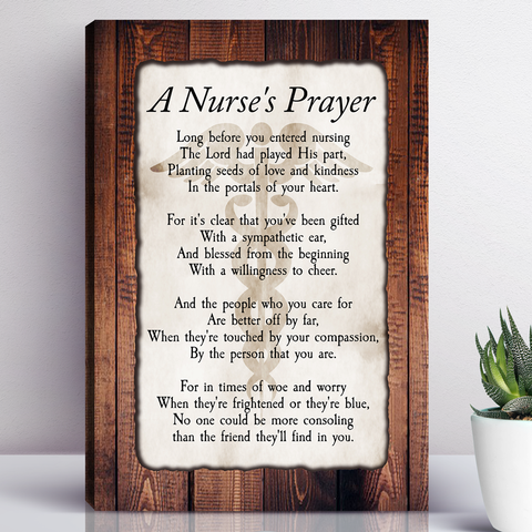 A Nurse's Prayer Wall Art