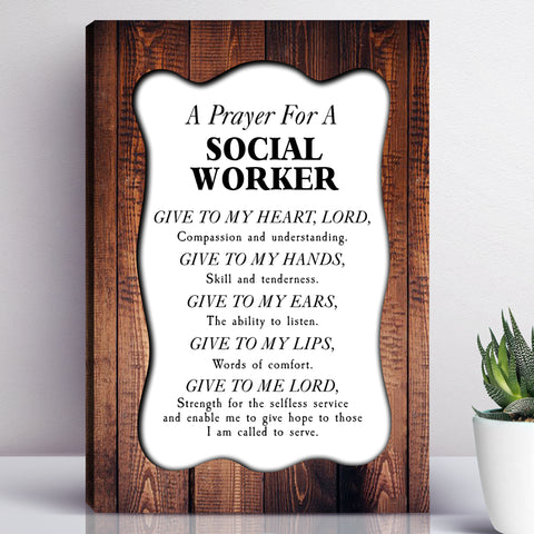 A Prayer For A Social Worker Wall Art