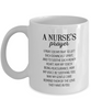 A Nurse's Prayer Mug, 11 oz