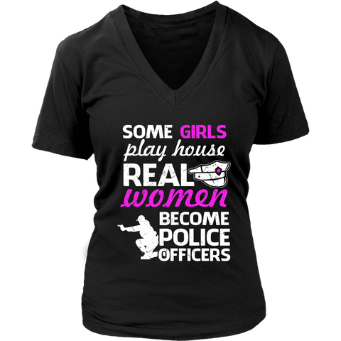 Image of Some Girls Play House Real Women Become Police Officers