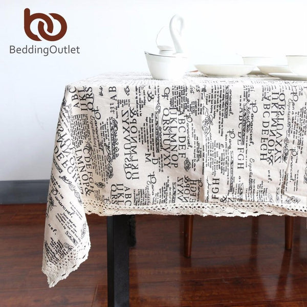 European Style Letters Tablecloth-Prestigehomecollections