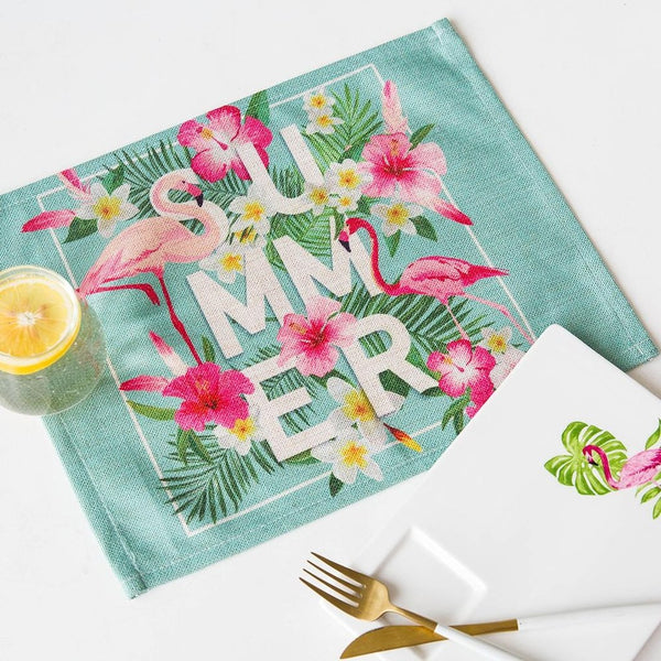 Flamingo Cotton Placemat Heatproof-Prestigehomecollections