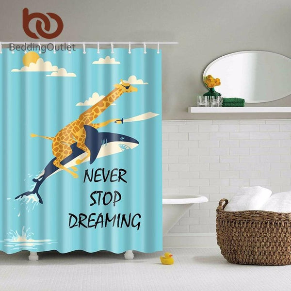 Never Stop Dreaming Shower Curtain-Prestigehomecollections