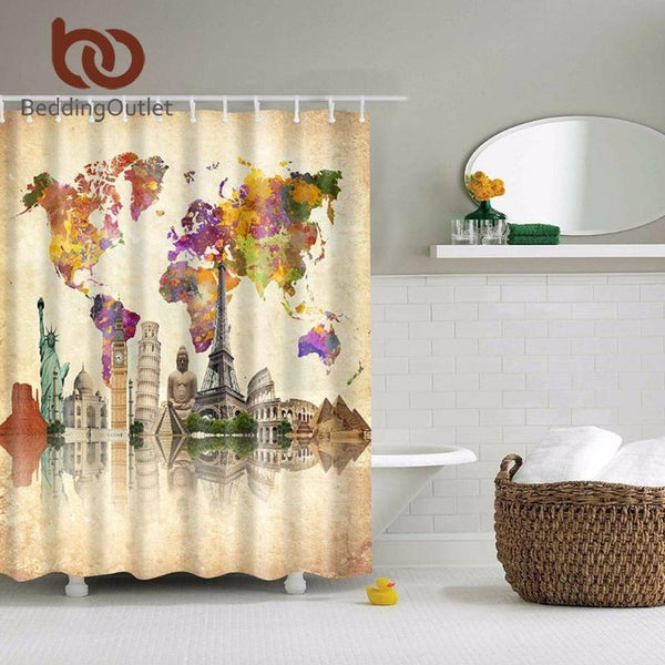 Place of Historical Interest Paint Shower Curtain-Prestigehomecollections