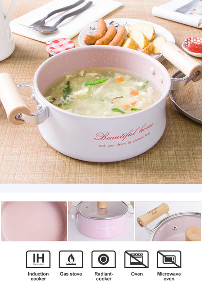 16 CM Creative No-Stick Soup Pot 4 Colors