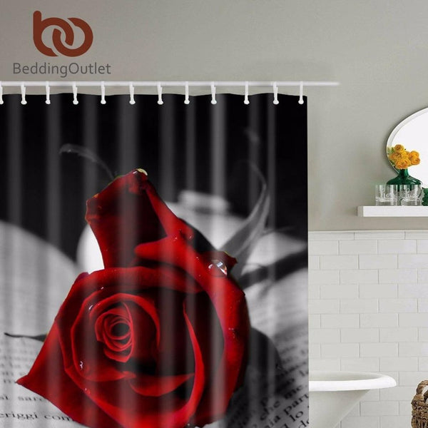 Red Roses Shower Curtain-Prestigehomecollections
