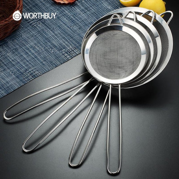 Stainless Steel Flour Colander-Prestigehomecollections