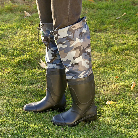 Knee-High Rubber Boots