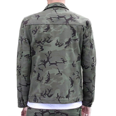 Turn Down Collar Military Jacket
