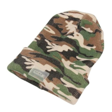 Warm Camo Beanie with LED