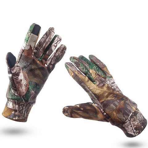 Anti-Slip Camo Gloves