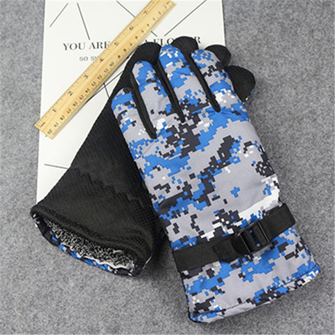 Digital Camo Winter Gloves