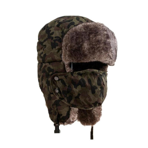 Woodland Camo Flapped Hat