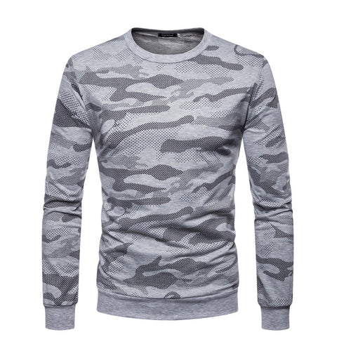 Gray Military Sweatshirt
