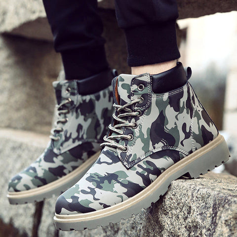 Lace-Up Boots