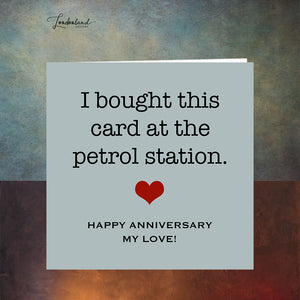 Anniversary Fuel, petrol station Anniversary Card