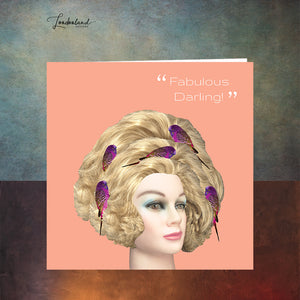 Blonde Bird Nest, Fabulous Darling, Hairdresser Greeting Card