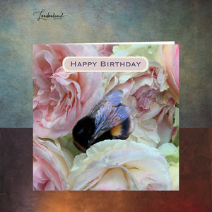 Bumble Rose Birthday Card